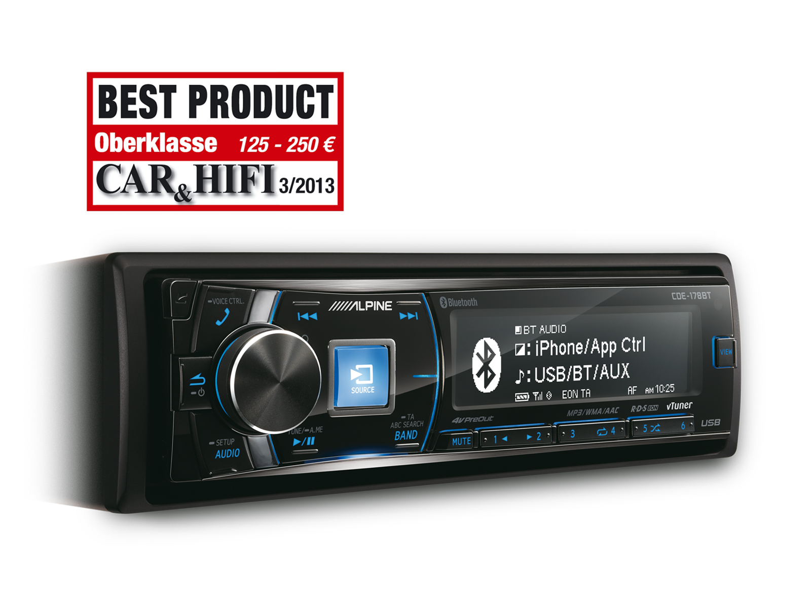 CD RECEIVER MIT BLUETOOTH® - Alpine - CDE-178BT