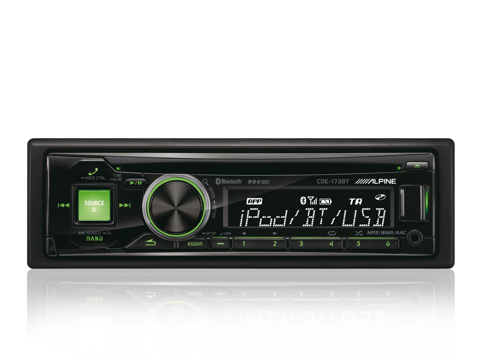 CD/USB RECEIVER MIT BT PLUS BLUETOOTH-FUNKTION - Alpine - CDE-173BT