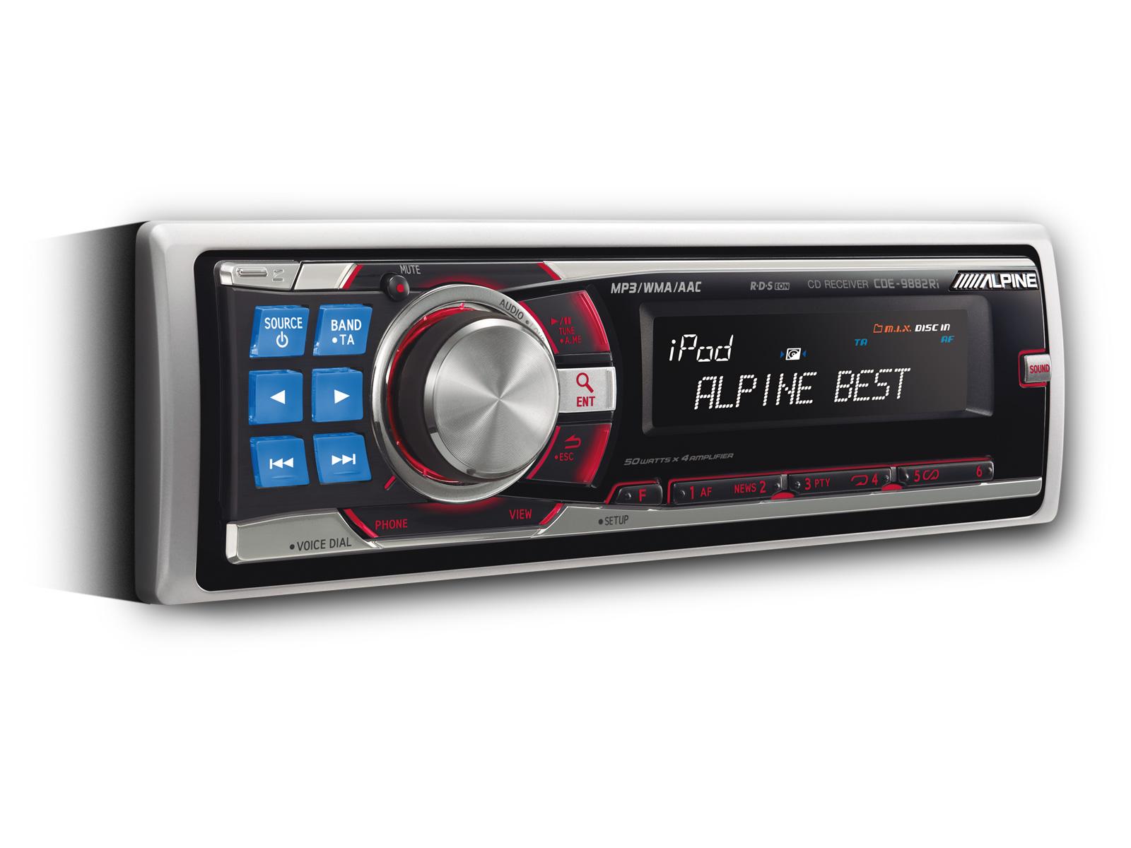 CD-RECEIVER / USB UND iPod® STEUERUNG - Alpine - CDE-9882Ri