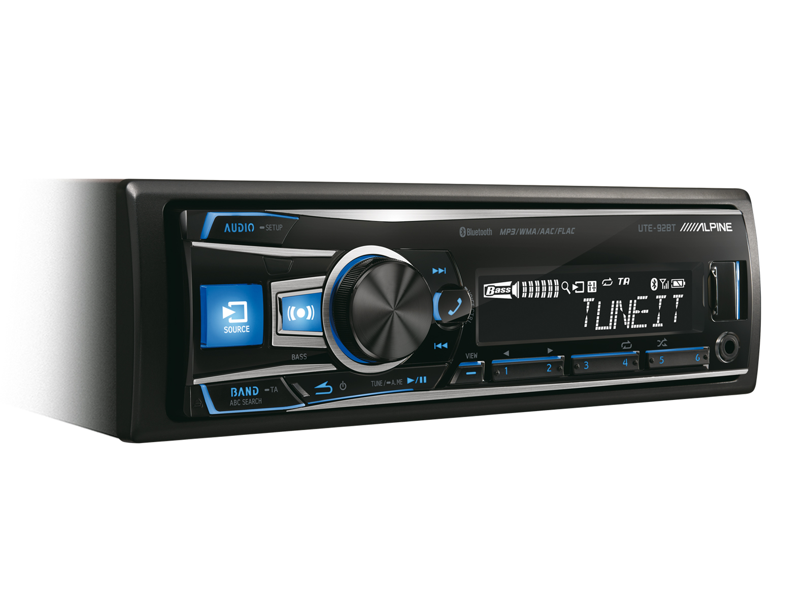 DIGITAL MEDIA RECEIVER MIT BLUETOOTH® - Alpine - UTE-92BT