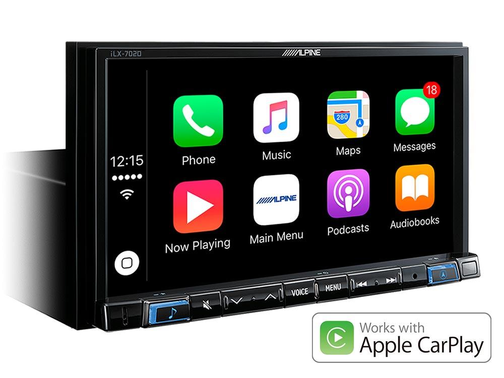 autoradio mit dab 7 zoll display apple carplay und. Black Bedroom Furniture Sets. Home Design Ideas