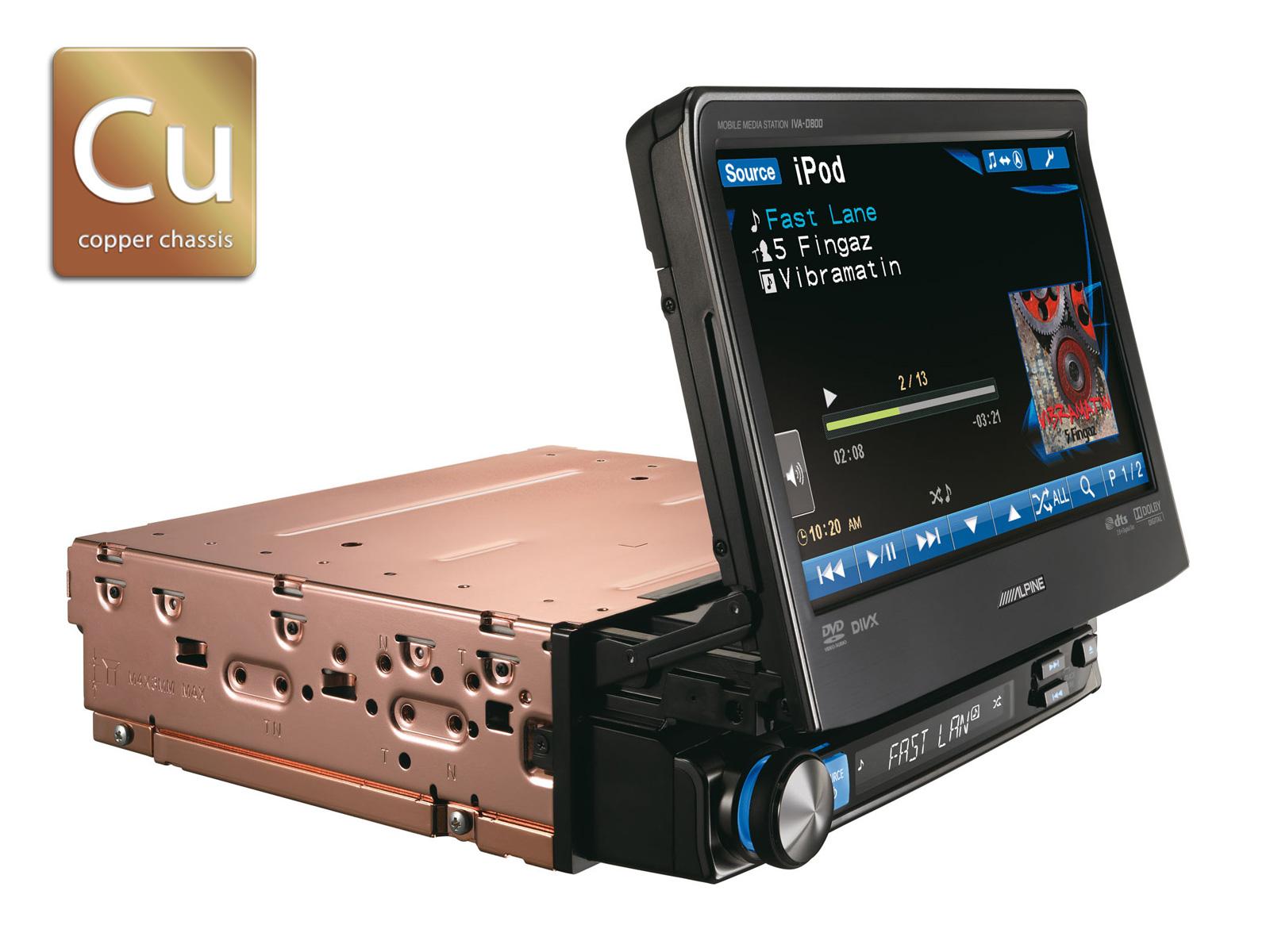 1din mobile media station alpine iva d800r for Mobili madia