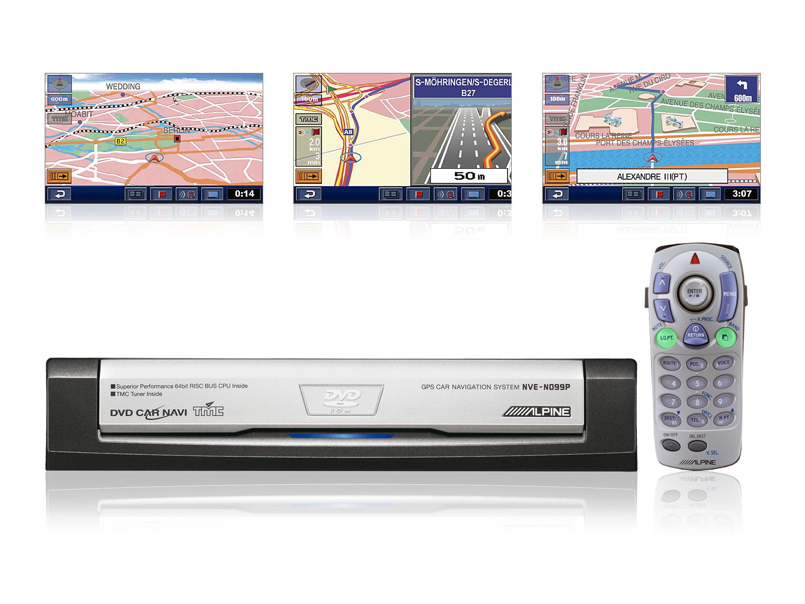 Dvd Gps Car Navigation System Alpine Nve N099p