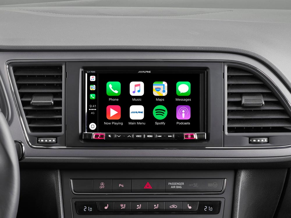 7 zoll premium mobile media system f r seat leon mit apple carplay und android auto. Black Bedroom Furniture Sets. Home Design Ideas
