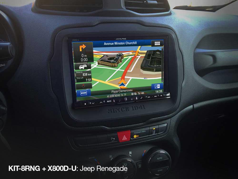 Einbauset für X801D-U, X800D-U & INE-W928R (Jeep Renegade) - Alpine ...