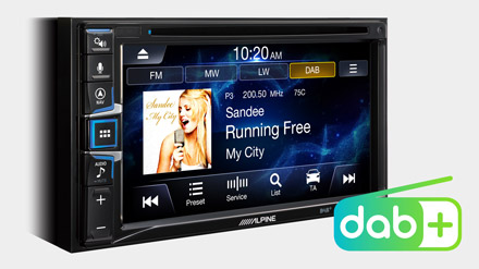 Built-in DAB+ - INE-W611DC