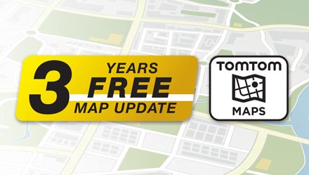 TomTom Maps with 3 Years Free-of-charge updates - INE-W710DC