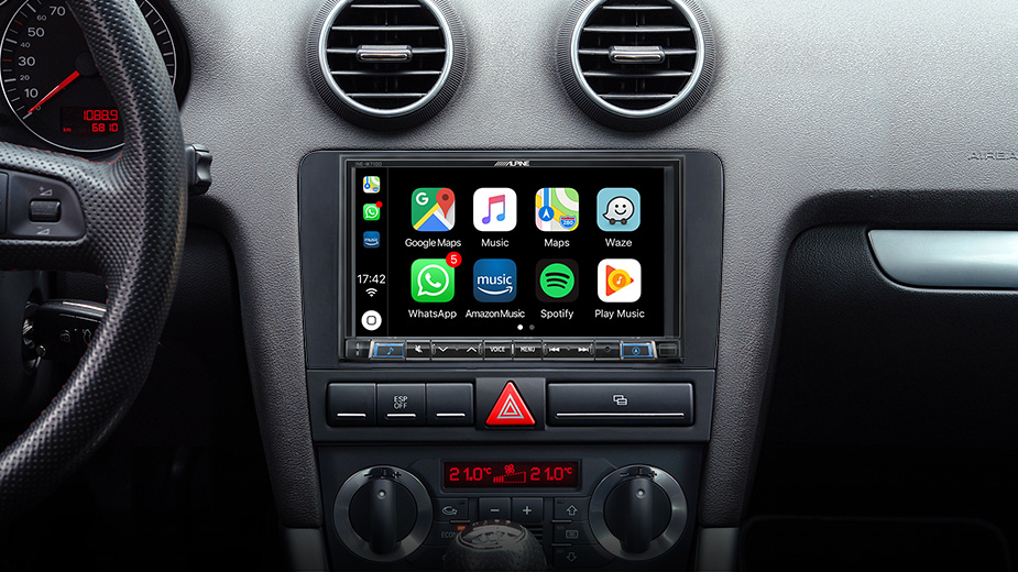 Alpine Style Mobile Media Designed for Audi A3 - INE-W710A3