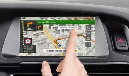 Audi A5 - X701D-A5: Hochauflösendes kapazitives Touchscreen-Display