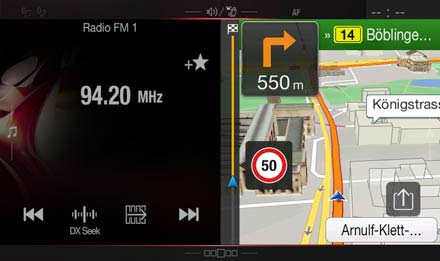 "Audi A5 Navigations-Nachrüstlösung - X701D-A5: ""One Look""-Display"