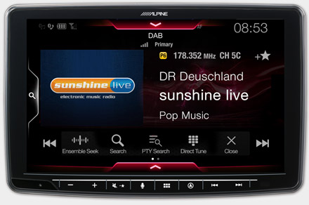 INE-F904DU - Built-in DAB+ Digital Radio