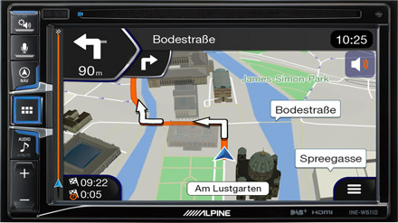 Built-in Navigation with TomTom Maps - INE-W611DU