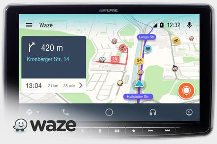 Alpine iLX-F903DU - Waze