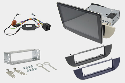 iLX-F903F312B - 1DIN installation kit included