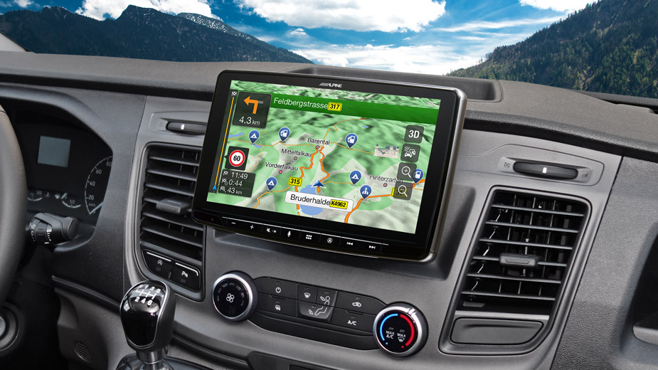 Alpine Style Navigation Designed for Ford Transit Custom - INE-F904TRA