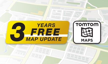 TomTom Maps with 3 Years Free-of-charge updates - X902D-ID