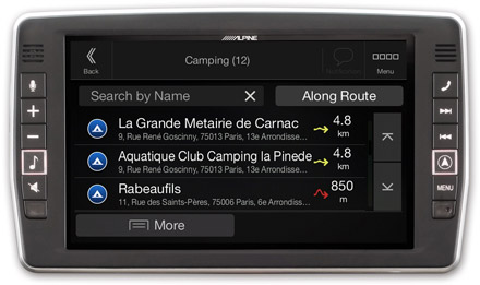 Mercedes Vito - Navigation - Importable camper POI databases - X903D-V447