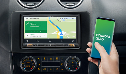 Online Navigation with Android Auto - INE-W720ML