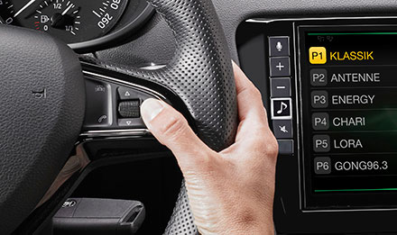 Skoda Octavia 3 Steering Wheel Remote Control Buttons X902D-OC3