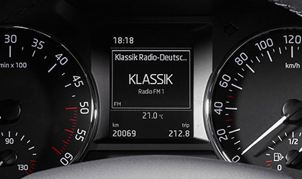 Skoda Octavia 3 Driver Information Display i902D-OC3