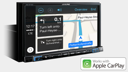 Online Navigation with Apple CarPlay - INE-W710S453B