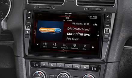 Navigation System für Volkswagen Golf 6 - Alpine - X901D-G6 Golf Galaxy