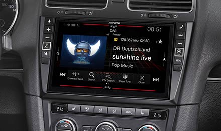 VW Golf 6 - DAB+ Digital Radio - X903D-G6
