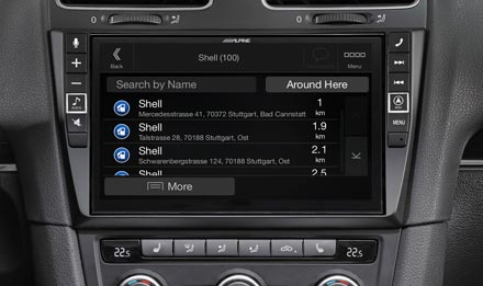 VW Golf 6 - Navigation - POIs (Points of Interest)  - X903D-G6