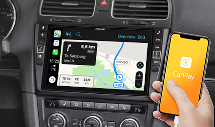 Online Navigation mit Apple CarPlay - X903D-G6