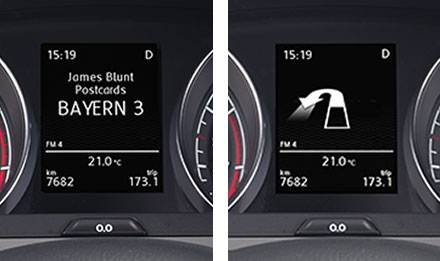 Golf 7 Driver Information Display X903D-G7