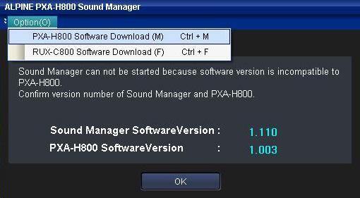 Alpine - PXA-H800 & RUX-C800 Firmware Update